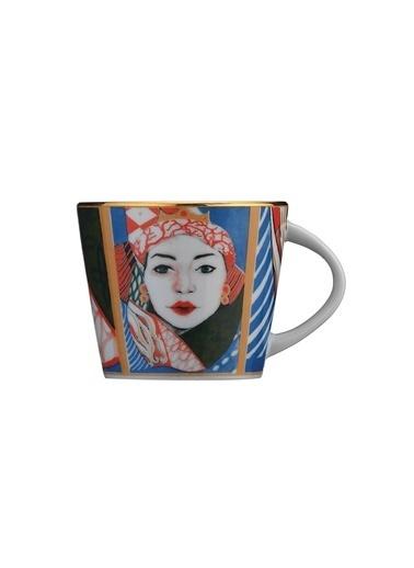 Kütahya Porselen Sophia Femina Kahve Takımı Renkli